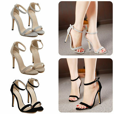 Elegant Sandals 1 Ankle Strap High Heel Sandals Stiletto Pee Toe Party Sandals