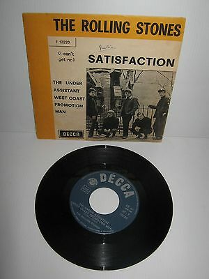 """THE ROLLING STONES – (I Can't Get No) Satisfaction – vintage Italian single 7"""""""