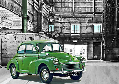 Automotive Art - Morris Minor - Hand Finished, Limited Edition (25)