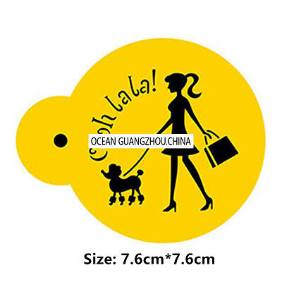 2 Pcs Packed Walk Dog Cookie Cake Stencil Decorate Mould Fondant Biscuit Tool