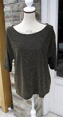 Black and Gold Top size 12/14