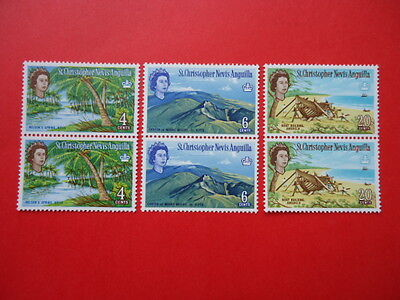 St Chistopher Nevis Anguilla 1963 SG133,135,138 Vertical pairs MNH