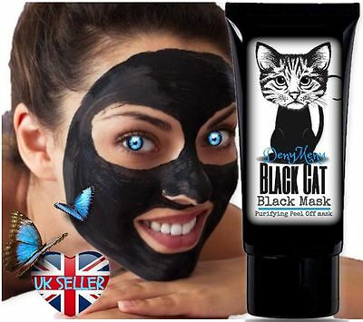 BlackCat Black Mask Purifying Blackhead Remover Peel-Off Facial Cleaning 50ml
