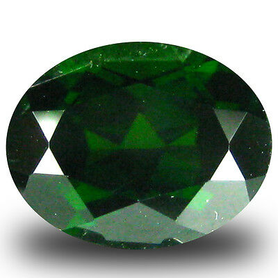 2.53 ct  Shimmering Oval Shape (9 x 7 mm) Green Chrome Diopside Natural Gemstone