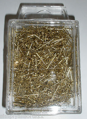 50g 13mm Sequin / Pinflair / Lills Gold Plated Pins (1000 pcs)