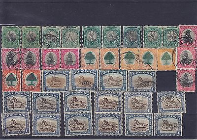 South Africa KGV & KGVI Used Pairs Singles Needs Checking