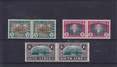 South Africa KGVI SG 82/84 Cat £50.00 Mounted Mint