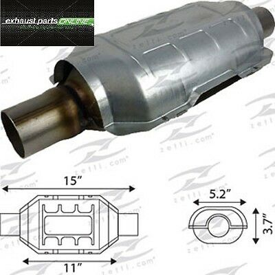 "Catalytic Converter 2"" (50.8Mm), Universal Euro Ii, Ceramic Core, 400 Cell"