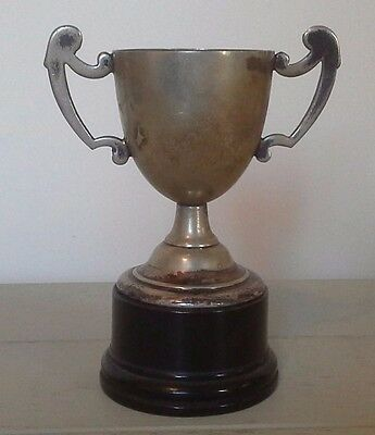 Vintage silver trophy, silver, trophy, trophies, antiques, NOT ENGRAVED