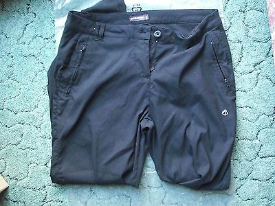 Craghoppers womens Stretch Trousers size 16 Black