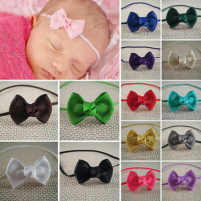 R 10Pcs Infant Baby Girl Cute Bow Headband Newborn Hair Band Headdress Headwear