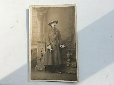 Vintage Portrait/Picture Postcard of a Lady. in sunday best Unused