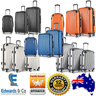 Suitcases Luggage Set of 3 Hard Shell Travel TSA Lock