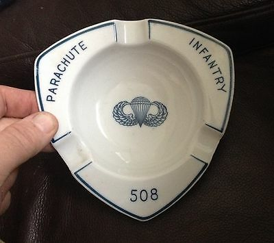 WW2 508th Parachute Infantry Regiment Officers Mess Ash Tray - 100% ORIGINAL
