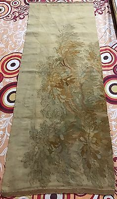 Antique 18C Aubusson French Hand Woven Tapestry Wall Hanging Panel