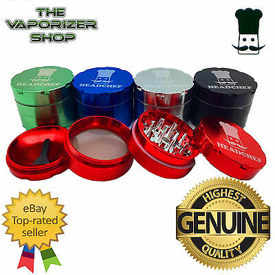 Head Chef Top Quality Alluminium Magnetic Herbal Grinder 50mm 4 Pcs All Colours