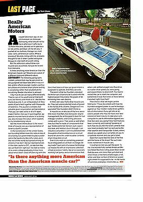 1970 Amc Rebel Machine  ~  Great Single-Page Muscle Car Article / Ad