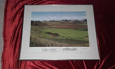 2002 Muirfield Open Golf Championship Ltd. Ed.framed golf print by Graeme Baxter
