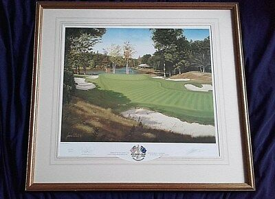 1999 Ryder Cup, Brookline, Ltd. Ed. framed golf print by Graeme Baxter