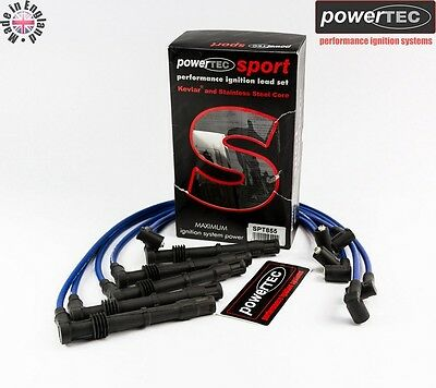 PowerTEC Sport Ignition HT Leads Audi 90 200 Coupe s2 2.0 2.2 20v Turbo 7A 3B NM