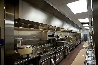 8 Ft Restaurant Hood System with Exhaust & Supply Fans