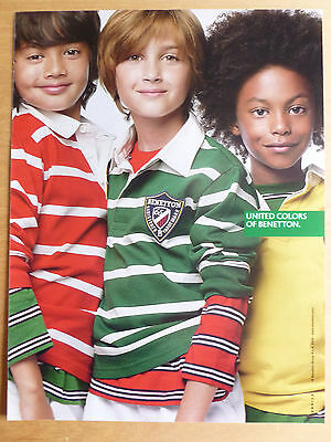 Advertising Publicité UNITED COLORS OF BENETTON prêt à porter enfant 2009