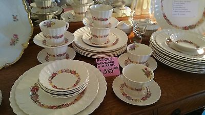 Copeland Spode Rose Briar China Dinner Set (43 Pieces) Setting for 8 People