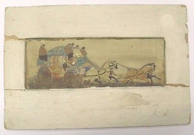 """Stevengraph Silk """"The Good Old Days"""" Of Royal Mail Coach As Shown"""