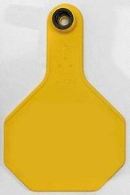 3 Star All American Y-Tex Cow Eartags (25ct) Blank Yellow Identification Cattle