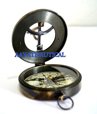 Sundial Compass Hand Made Solid Brass West London Replica Nice Item