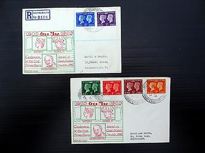 GB 1940 G.VI Stamp Centenary FDC's with Private Cachet & Special PMK FP9282
