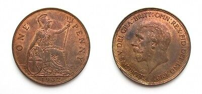 George V 1932 Bronze Penny - Very High Grade