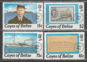 Belize-Cayes Correo Yvert 18/21 ** Mnh