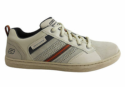 New Skechers Sorino Evolve Mens Lace Up Casual Leather Shoes