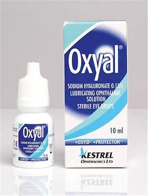 Oxyal Lubricating Eye Drops 10ml Hyaluronic Acid Ophthalmic Solution Sterile New