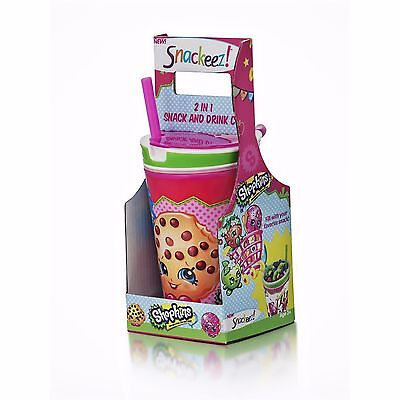 New Snackeez Shopkins 2 in 1 Snack and Drink Cup Kids