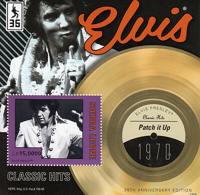 Sierra Leone 2012 MNH Elvis Presley Classic Hits Patch It Up 1v S/S II Stamps