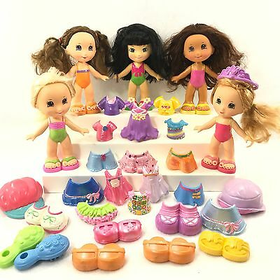 Fisher Price Snap N Style Dolls Large Lot Of Various Clothes Shoes & More! B