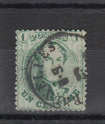 Belgium 1863/65 A Good Used 1c Green 14 1/2 Perf. Classic Stamp SG24
