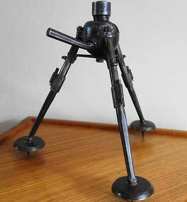 Rare Ww1 Allies Or Earlier Vintage Hotchkiss Vickers Folding Tripod Stand Mount