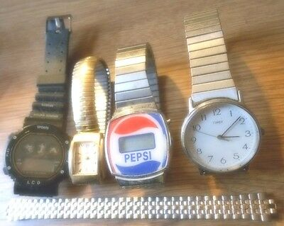 8 -Watches for Parts Or Repair Men's / Women's ...as is