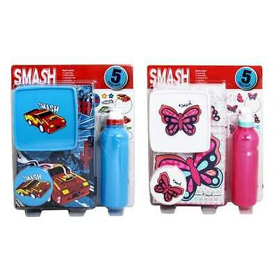 Smash 5 Piece Lunch Pack - Boys Girls School Lunchbox Bag Bottle Drinks - GIFTS