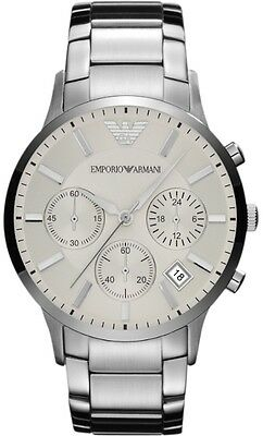 New Emporio Armani Ar2458 Mens Steel Watch - 2 Years Warranty - Certificate