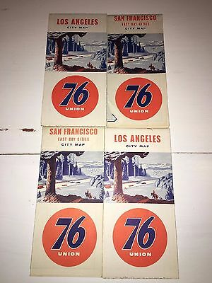 1950s Union 76 Oil Gas service station California  road map lot 4