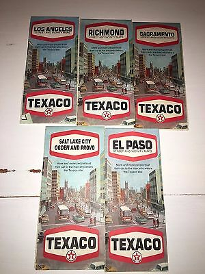 VIntage Texaco oil gas road map lot of (5)