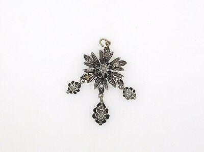 Vintage Pendant with Diamonds in 9K Gold and Silver  (113)