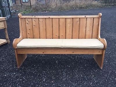 Large Solid Rustic Reclaimed Farmhouse Pine Pew Bench