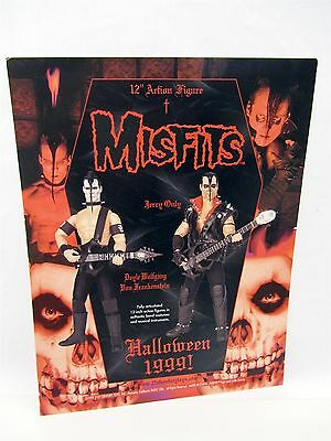"1999 Halloween MISFITS 12"" Action Figure ADVERT, Jerry Only, Doyle Wolfgang, AD"