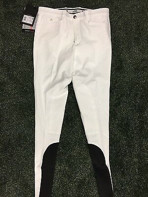 Equiline Grafton Mens Breeches in White - Size 36