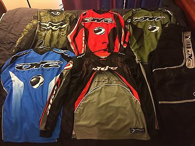 Dye Paintball Shirts & Pants - green, blue, red - 5 jerseys & 1 pair of pant